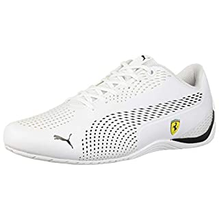 PUMA Ferrari Drift CAT 5 Ultra Sneaker, White Black, 5.5 M US