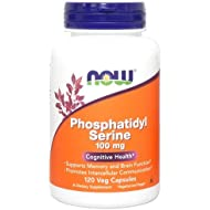 NOW Phosphatidyl Serine 100mg, 120 Veg Capsules