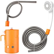 Portable Outdoor Shower Pump Waterproof Camping Shower Head USB Rechargeable