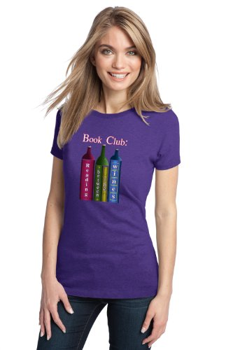 BOOK CLUB: READING BETWEEN THE WINES Ladies' T-shirt / Wine Drinking Humor