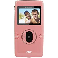 Sylvania DV5000C-PK Digital Video Camcorder with HD Recording, 8x Optical Zoom, and 2-Inch LCD Screen, Pink (Discontinued by Manufacturer)