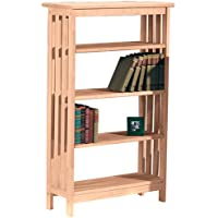 Mission Styled 4 Tier Shelf, 48 inch High