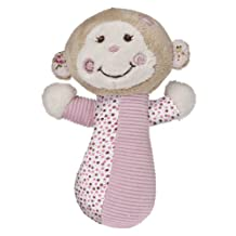 Mary Meyer Baby Cheery Cheeks Rattle, Tails Monkey