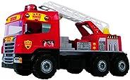 Caminhão Bombeiro Super Magic Toys Vermelho