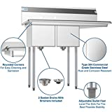 KoolMore - SB121610-16R3 2 Compartment Stainless