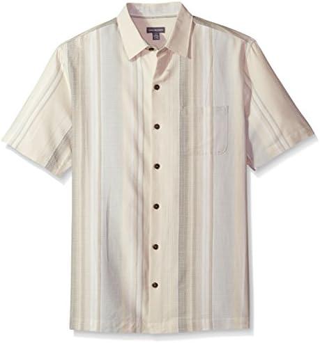 Van Heusen de los hombres algodón con textura Rayón manga corta