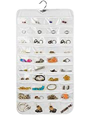 Rekukos Hanging Jewelry Organizer Holder Bag Double Sided Storage 80 Pockets by