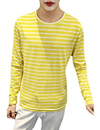 Men's Fashion Cotton Custom Fit Long Sleeve Stripe T-Shirt