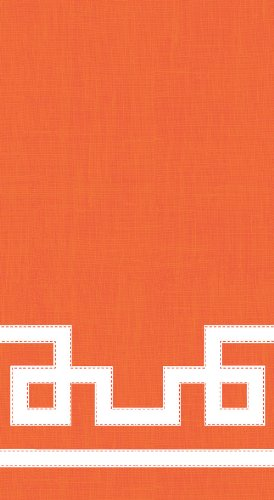 Entertaining with Caspari Guest Towels, Rive Gauche Orange, Pack of 15