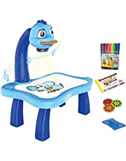 ARVALOLET Projektorsspår och rita leksak barnritprojektorer bordsspår och dra-projektorleksak barn lärande skrivbord barn LED-projektor konst teckningsbord leksak pedagogisk