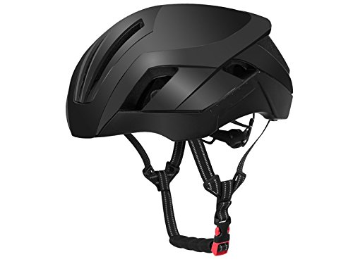 Lindou Outdoor-Sporthelm Erwachsenen Einstellbare Fahrradhelm Poröse Berg Fahrradhelm Einteilige Fahrradhelm (Schwarz) Zur Sicherheit