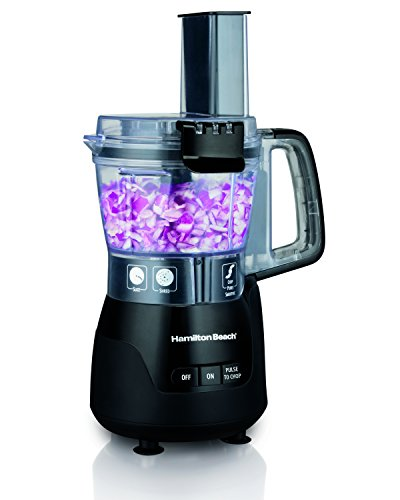 Hamilton Beach 70510 4 Cup Stack & Snap Compact Food Processor, Black