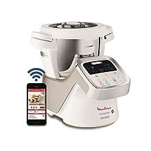 Moulinex i-Companion HF9001 - Robot de cocina Bluetooth 13 programas y 6 accesorios capacidad 6 personas, incluye cuchilla picadora, batidor, mezclador, amasador, triturador y cesta de vapor