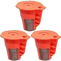 Blendin Refillable Reusable K-Carafe Coffee Filter Pods,Fits Keurig 2.0 Coffee Makers (3 Pack)