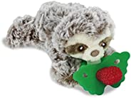RaZbaby RaZbuddy RaZberry Teether/Pacifier Holder w/Removable Baby Teether Toy - 0M+ - Bpa Free - Sloth