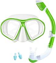 Supertrip Kids Snorkel Set-Scuba Dry Top Diving Mask Anti-Leak Impact Resistant Panoramic Tempered Glass Easyb