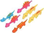TOYANDONA 6Pcs Finger Slingshot Toys Flick Dinosaur Flying Toys Stretchy Christmas Rubber Toys