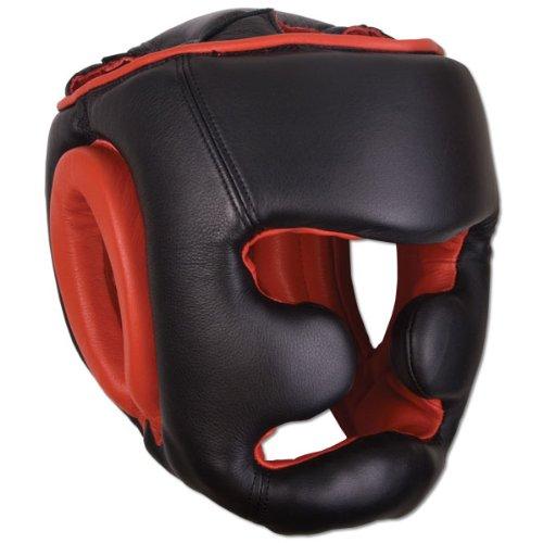 Ringside Full Faceトレーニングボクシングヘッドギア、ブラック  Large