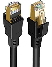 Cat 8 Ethernet Cable, CableCreation Network Patch Cable 40 Gigabit 2000MHz SFTP Internet LAN Wire High Speed Cable Cord for Modem, Router, PS3, PS4, Xbox, Black