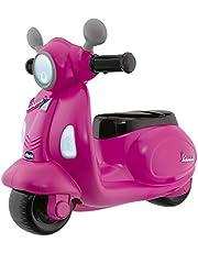 Chicco - Vespa Primavera Loopfiets - 1 tot 3 Jaar - met Elektronisch Bedieningspaneel - Afneembare Zijwieltjes - Roze