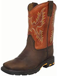 Kids' Workhog Wide Square Toe Western Boot