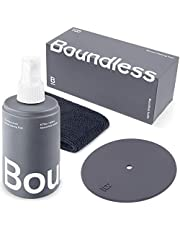 Boundless Audio Record Cleaning Solution - 6.75oz Vinyl Record Cleaner Fluid & Vinyl Cleaner Cloth & Record Label Protector