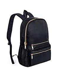UTO Mochila para Laptop Impermeable Tela Nylon Unisex Mochila Escolar Bolsa de Viaje Bolsa al Hombro con Bolsillos Laterales