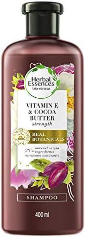 Shampoo Herbal Essences Bio:Renew Vitamina E e Manteiga de Cacau 400ml, Herbal Essences