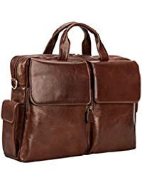 Maxwell Scott Men's Italian Crafted Leather Briefcase - Lagaro