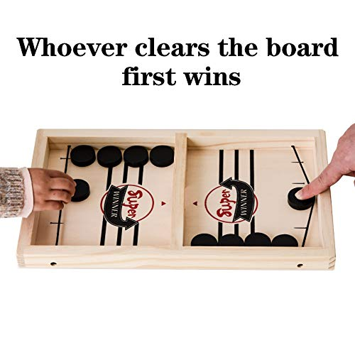 Yundu Fast Sling Puck Game,Foosball Winner Board Game,Table Desktop Battle Game for Parent-Child,Small (14 x 8.5 in)