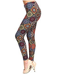 VIV Collection Best Selling Printed Brushed Leggings Plus...