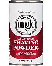 Razorless Shaving for Men by SoftSheen-Carson Magic Skin Conditioning Shaving Powder, with Vitamin E and Aloe, Formulated for Black Men