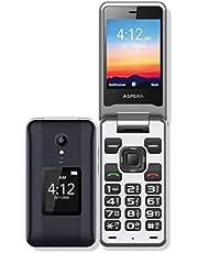 Aspera F42 Flip Phone (4G/LTE, 2MP) - Titanium