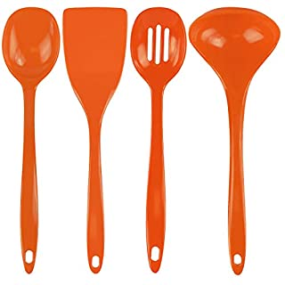Calypso Basics by Reston Lloyd Melamine Utensil Set, 4-Piece, Orange