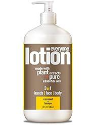 EO Everyone Lotion, Coconut plus Lemon, 32 Fl Oz
