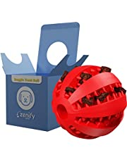 Zenify Puppy Toys Dog Toy Food Treat Interactive Puzzle Ball for Tooth Teething Chew Fetch Tennis Training Boredom Behaviour Dispensing Stimulation Pet Dogs & Puppies