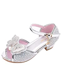 XILALU Baby Girl Sparkling Baby Shoes Pearl Rhinestone Dance Shoes Princess Shoes Single Shoes Sandals