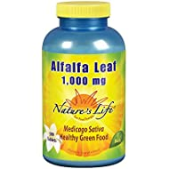 Nature's Life® Alfalfa Leaf Tablets 1000mg | Vitamin Rich Green Superfood | Non-Gmo | 500 Count