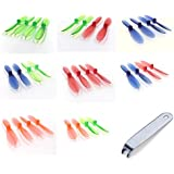 iDrone YiZhan i4W [QTY: 1] Transparent Clear Blue Propeller Blades Props Rotor Set 55mm Factory Units [QTY: 1] Green [QTY: 1] Red [QTY: 1] Orange [QTY: 1] and [QTY: 1] [QTY: 1] [QTY: 1] [QTY: 1] Remov