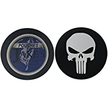 Jake's Mint Chew Straight Mint POUCH - 1 Can - Includes DC Skin Can Cover (Punisher Skull Skin)