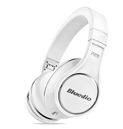 Amazon Lightning Deal 96% claimed: Bluedio Premium High End Wireless Bluetooth Headphones with Microphone, White