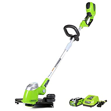 GreenWorks 21302 G-MAX 40V 13-Inch Cordless String Trimmer, 2AH Battery and Charger Included