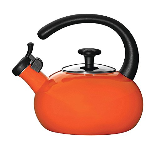 Rachael Ray Teakettles 1-1/2-Quart Whistling, Orange