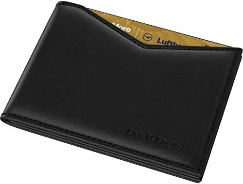 DARDON Flap Wallet, Dark Brown Men's Wallet, Made Entirely Out of Smooth Leather, Slim Wallet with RFID Blocker Made Of Italian Calfskin