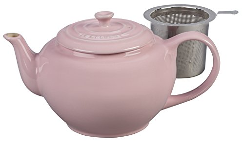Le Creuset Stoneware Large Teapot with Stainless Steel Infuser, Hibiscus