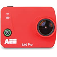 AEE Technology S40 Pro 1080P HD 16MP Time Lapse Long Battery Life Action Camera (Deep Red)