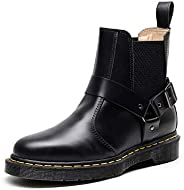 Whole honest Women's Chelsea Leather Buckle High-top Leather S