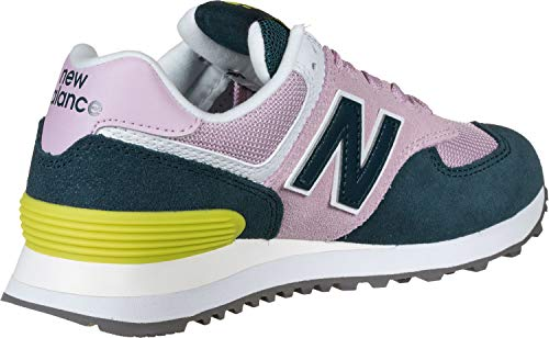 New Balance Women's 574 V2 Sneaker, Oxygen Pink/Supercell, 6 M US
