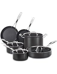 KitchenAid KCH1S10KD Hard Anodized Nonstick 10-Piece Cookware Set - Black Diamond