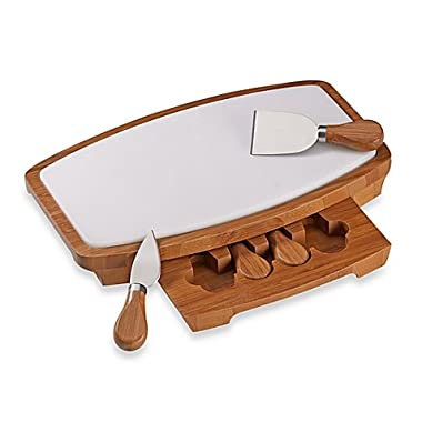 2  H X 7 5/8  W X 12 1/2  L Attractive, Practical, Durable and Dynamic B. Smith® Marble Cheeseboard Kitchenware Set